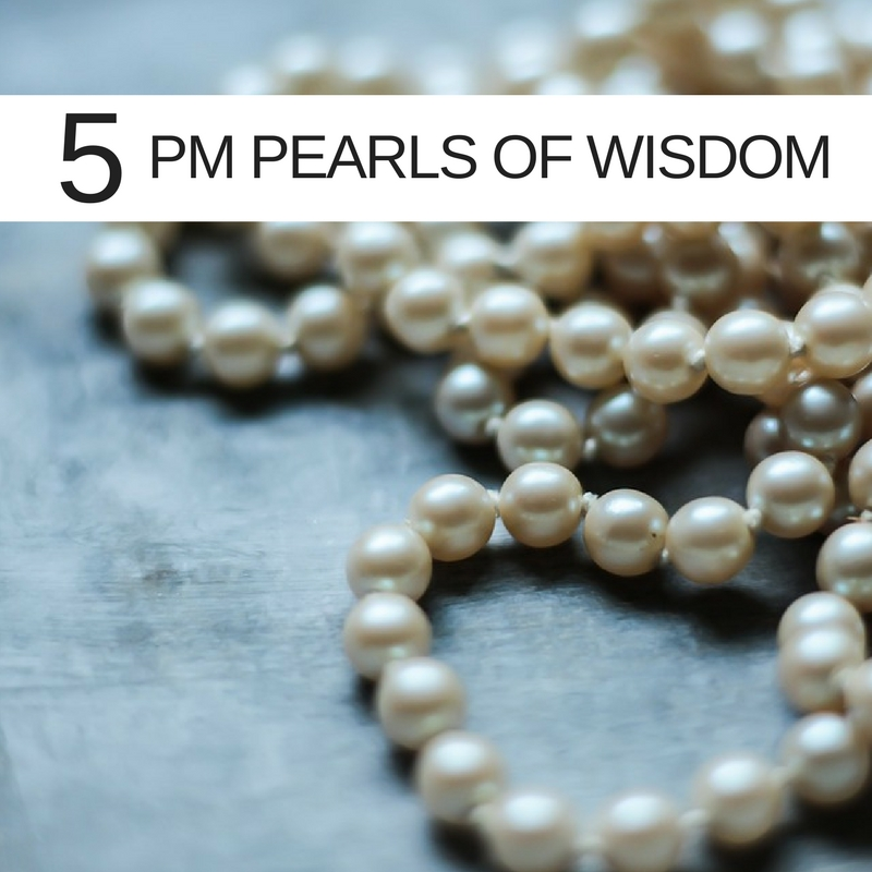 5 pearls of wisdom for Project Managers